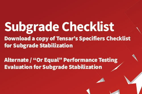 Subgrade Stabilization Checklist