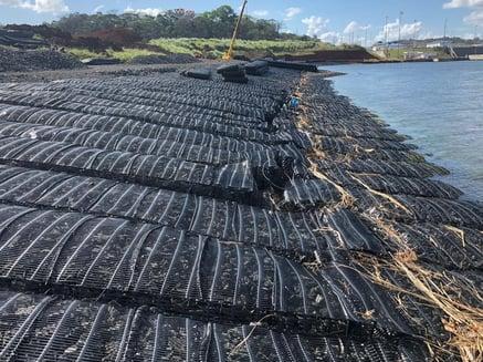 Tensar marine mattress protects banks of Panama Canal