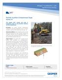 Stabilize soil embankments neart railroad