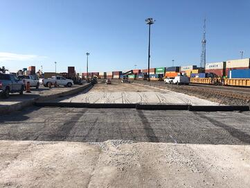 Improve Intermodal pavements with TriAx Geogrid