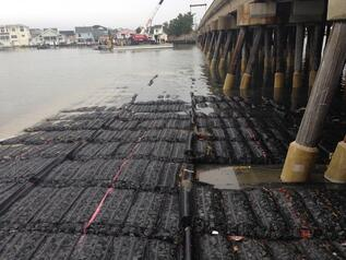 Scour protection at Manahawkin Bay Bridge project