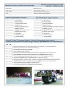 Specifiers Checklist for Pavement design