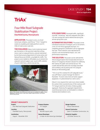 Access Road cost savings