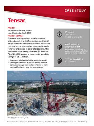 Petrochemical crane project cost savings