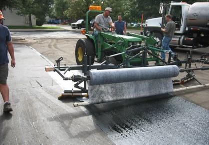 GlasPave Pavement Interlayer strengthens pavements
