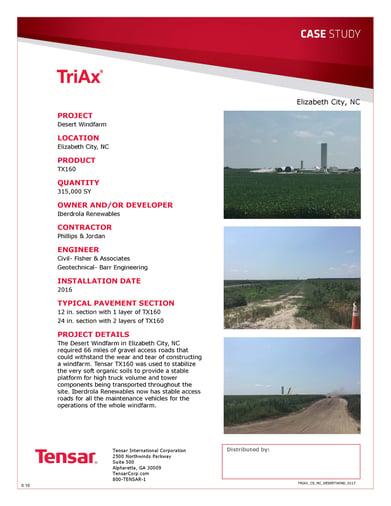 TriAx stabilizes weak soil for wind farm