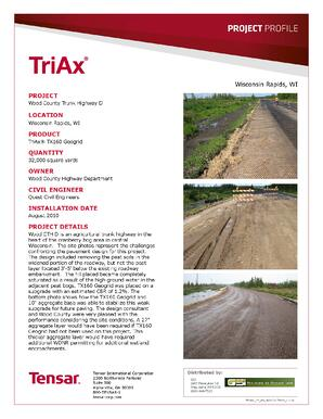 Wood County Truck Highway D Project Profile