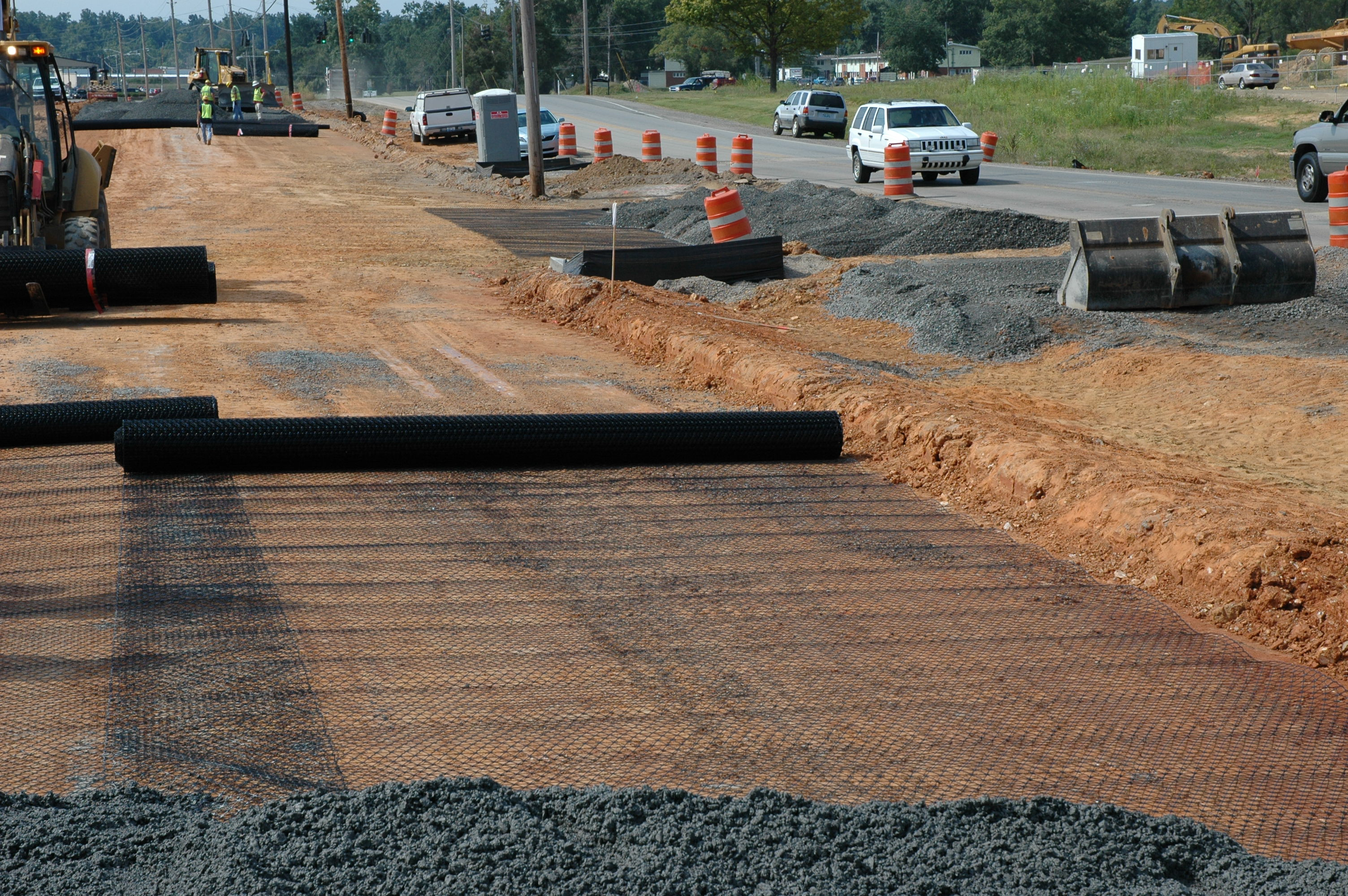 Wilson Road Construction with Tensar TriAx Stabilization